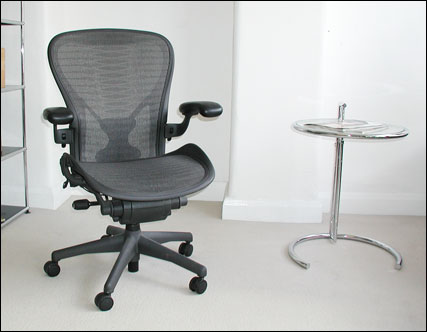 Aeron chair size C fitted with posture support