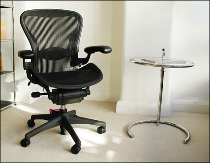Aeron chair size B with lumbar support