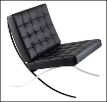 Knoll original Barcelona chair in black leather