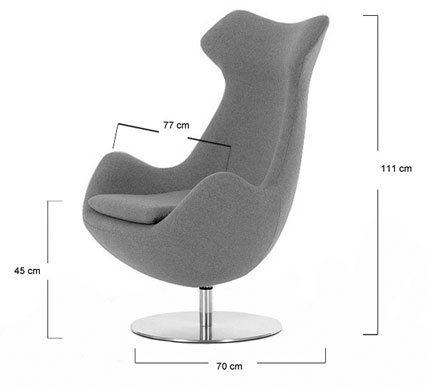 Steijer lounge chair dimensions