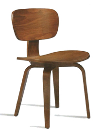 Zap dining chair in medium brown