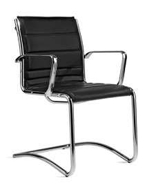 Milani Comet meeting chair with cantilever base