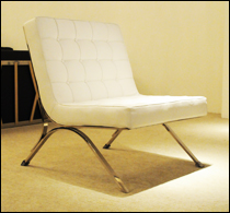 Seville chair in white leather