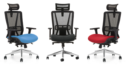 Jammy office chair in blue black or red