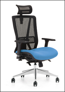 Jammy office chair in blue
