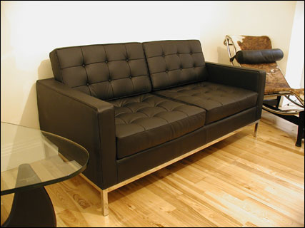 Studio 2 seater sofa in black