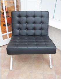 Seville chair in black leather