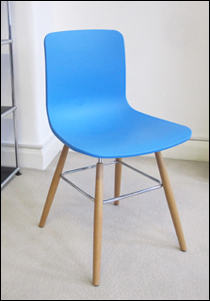 Sophie plastic dining chair in blue