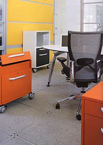 Mobile personal office storage can bring all your belongings together in one place, and keep them close