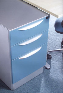 clean looking pedestal units to compliment any office desk