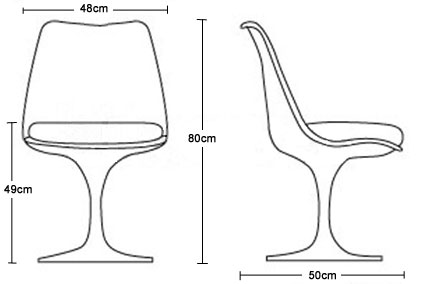 Trumpet chair dimensions