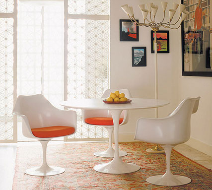Trumpet Table and Trumpet Armchairs