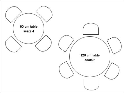 Florence Table dimensions for seating