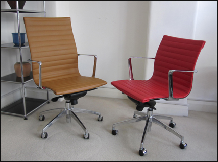 Aero-Deck ribbed desk chairs - high back and low back