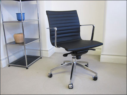 Aero-Deck low backed ribbed desk chair