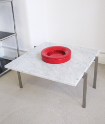 Cubis 66 coffee table with marble top