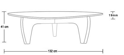 Manx coffee table dimensions