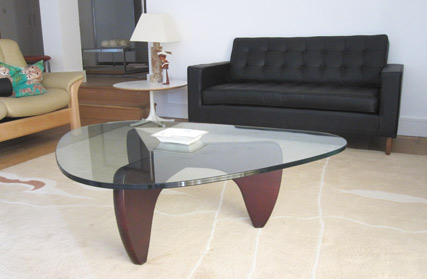 Manx glass coffee table