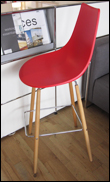 Crossbar barstool in red