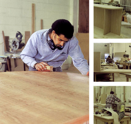 our cabinet makers at work