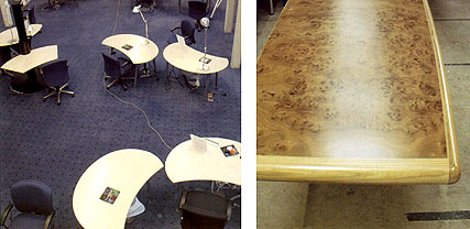 we are happy to create new table tops, whether for work stations or boardroom meeting tables