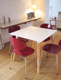 Square white Florence dining table