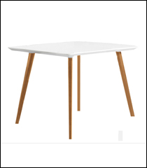 Square white Florence table