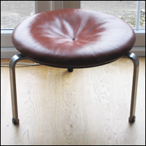 Fritz Hansen PK33 leather stool