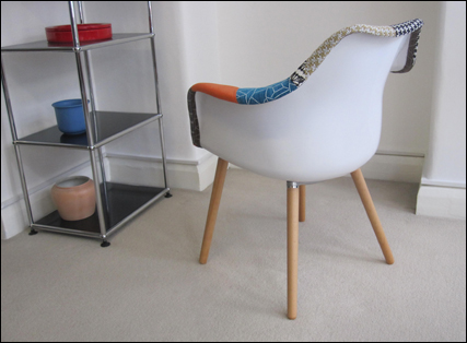 Harlequin Armchair seen from behind