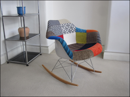 Harlequin rocking chair