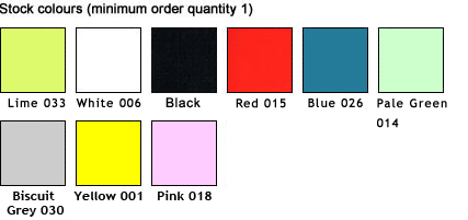 Colour options for plastic chairs