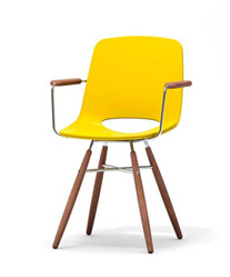 Ooland chair in yellow with arm rests