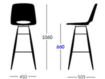 Ooland kitchen stool dimensions