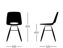Ooland side chair dimensions