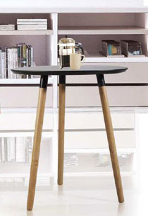 Siam side table in black plastic
