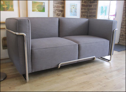 Brooklyn two seater sofa in linen