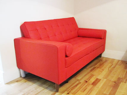 Home Sofa in red fabric