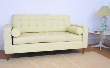 Home Sofa in cream leather