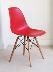 Vitra DSW chair in red