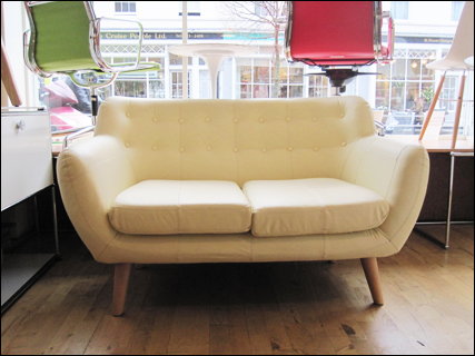 Cream two seater Wings sofa