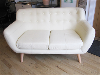 White two seater Wings sofa